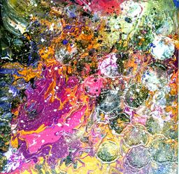 Cosmic Dance, Paintings, Abstract, Decorative, Acrylic, By Smita Biswas