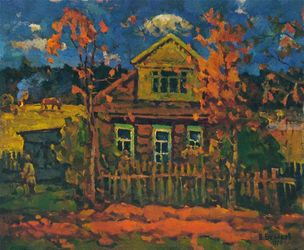 Country house, Paintings, Impressionism, Landscape, Oil, By Vasily Belikov