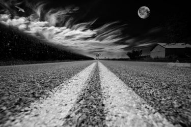 Country Road 51, Photography, Surrealism, Fantasy, Photography: Premium Print, By kevin cable