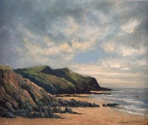 Crackington Haven, Paintings, Impressionism, Landscape, Oil, By David Mather