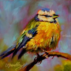 Cream Puff, Paintings, Impressionism, Nature,Wildlife, Oil, By Chris Brandley