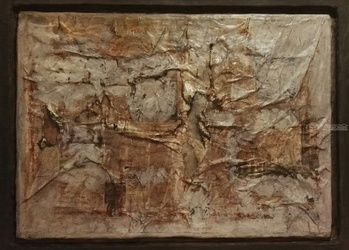 Crumbling, Collage,Paintings, Abstract, Conceptual, Canvas, By Roberto Lalli