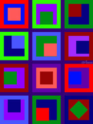 Cubbyholes 2, Graphic, Modernism, Decorative, Digital, By Rick Ruark