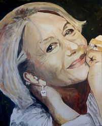 Dame Helen, Paintings, Impressionism, Portrait, Acrylic, By broonzy williams