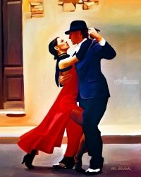 Dance, Paintings, Fine Art, Dance, Canvas, By Ata Alishahi