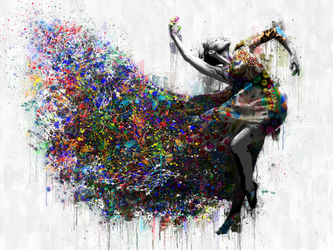 Dance  Plays, Paintings, Impressionism, People, Mixed, By Angelo