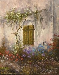 Dans Le Jardin, Paintings, Impressionism, Landscape, Oil, By Sean Conlon