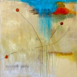 Dawn Breaks Early, Paintings, Abstract, Composition, Acrylic,Charcoal, By Petra Lea