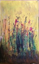 Day Dreaming, Paintings, Abstract, Botanical,Floral,Landscape, Acrylic,Canvas, By Kenneth Parker