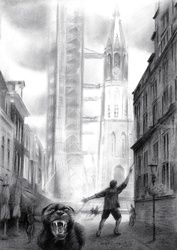 Delft - 19-08-17, Drawings / Sketch, Abstract,Impressionism,Realism,Surrealism, Cityscape,Composition,Fantasy,Figurative,Inspirational,Landscape,People,Religious, Pencil, By Corne Akkers