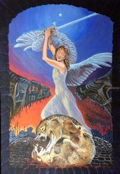 Dies Irae(acrylic on<br>cartdboard), Paintings, Fine Art, Fantasy, Acrylic, By Victoria Trok