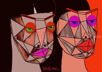 different moods, Digital Art / Computer Art, Expressionism,Modernism,Surrealism, Avant-Garde,Portrait, Digital, By Nebojsa Strbac