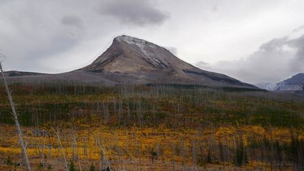 Divide Mountain on a Stormy<br>Autumn Day, Photography, Fine Art,Photorealism,Realism, Botanical,Environmental art,Landscape,Nature,Window on the World, Photography: Metal Print,Photography: Photographic Print,Photography: Premium Print,Photography: Stretched Canvas Print, By Tracey Vivar