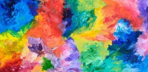 Ecstatic Colors, Paintings, Abstract, Avant-Garde, Acrylic,Canvas, By Josiah Stam