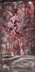 EN POINTE, Paintings, Impressionism, Figurative, Acrylic, By ADRIAN WRIGHT