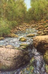 English Stream, Drawings / Sketch,Paintings, Fine Art,Realism, Landscape,Nature, Painting,Watercolor, By James Cassel