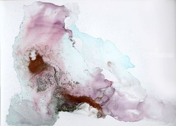 EPHEMERAL LANDSCAPES #1/<br>SERIES OF ABSTRACT, Paintings, Abstract,Fine Art,Minimalism,Modernism, Conceptual,Landscape,Nature, Ink,Oil, By Anna Sidi Yacoub