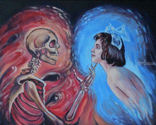 Eternal Love(acrylic on<br>canvas), Paintings, Fine Art, Fantasy, Acrylic, By Victoria Trok
