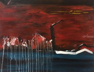 Excitement, Paintings, Abstract, Spiritual, Acrylic, By Sadaf Kobari