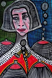 Exquisite portraits by Mirit<br>Ben-Nun israeli artist, Paintings, Expressionism, People, Ink, By Mirit Ben-Nun