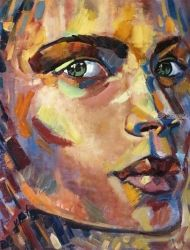 """Eyes - the mirror of the<br>human soul"", Paintings, Abstract,Expressionism,Fine Art,Impressionism,Modernism,Pop Art, Anatomy,Figurative,People,Portrait, Canvas,Oil, By Valentina Butnarciuc"
