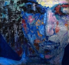 Fabio Modica | Selene, Paintings, Expressionism, Portrait,Religious, Acrylic,Canvas, By Fabio Modica