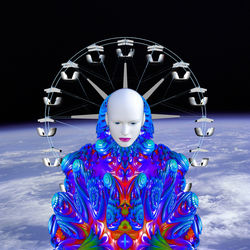 Fairground in Space, Digital Art / Computer Art, Commercial Design,Futurism,Hallucinogens,Modernism, Avant-Garde,Fantasy,Figurative,Portrait, Digital, By Matthew Lacey