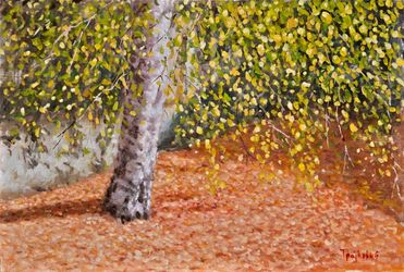 Fall, Paintings, Fine Art,Impressionism,Realism, Landscape,Nature, Oil,Wood, By Dejan Trajkovic
