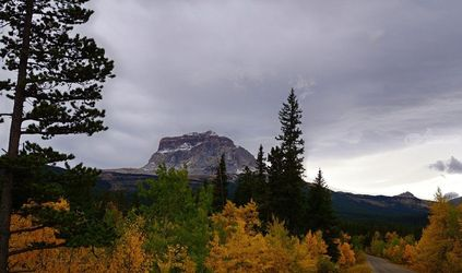 Fall at Chief Mountain,<br>Northside, Photography,Poster, Fine Art,Photorealism,Realism,Romanticism, Botanical,Environmental art,Landscape,Nature, Photography: Metal Print,Photography: Photographic Print,Photography: Premium Print,Photography: Stretched Canvas Print, By Tracey Vivar