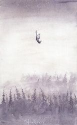 falling, Paintings, Fine Art, Fantasy, Watercolor, By Eugene Gorbachenko