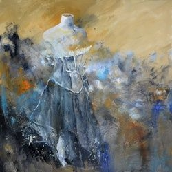 Fashion, Paintings, Impressionism, Erotic, Canvas, By Pol Ledent