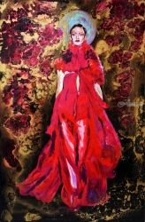 Fashion in Red, Sculpture, Expressionism,Fine Art,Pop Art,Romanticism, Dance,Decorative,Figurative,Inspirational, Acrylic,Epoxy,Mixed, By Anna Sidi Yacoub