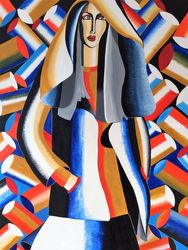 Fashion Lady, Paintings, Abstract, Figurative, Acrylic, By Lucyanne Terni