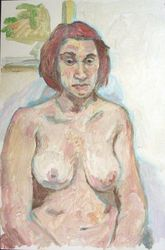 Female Nude, Paintings, Fine Art,Realism, Erotic,Nudes,People,Portrait, Oil, By Marc Clamage