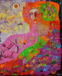 Female secrets, Paintings, Expressionism,Impressionism, Figurative, Oil, By Vyara Tichkova
