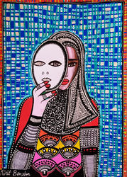 Feminist art paintings by<br>Mirit Ben-Nun, Paintings, Pop Art, People, Ink, By Mirit Ben-Nun