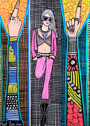 Feminist artists from Israel, Paintings, Pop Art, People, Ink, By Mirit Ben-Nun