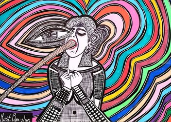 Feminist artists from Israel<br>Mirit Ben-Nun, Paintings, Pop Art, People, Ink, By Mirit Ben-Nun
