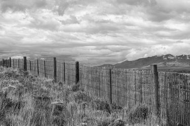 Fenceline, Photography, Photorealism, Land Art,Landscape, Photography: Premium Print, By Mike DeCesare