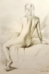 Figure live study drawing, Drawings / Sketch, Realism, Analytical art,Anatomy,Composition,Erotic,Figurative,Nudes, Pencil, By Darwin Leon
