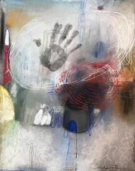 Fingerprint, Pastel, Abstract, Composition, Pastel, By J Farfan