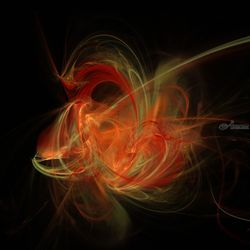 Flamez, Digital Art / Computer Art, Abstract, 3-D,Decorative, Digital, By Jean-François Dupuis