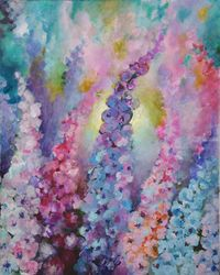 Floral dream, Paintings, Fine Art, Decorative,Floral,Nature, Acrylic,Canvas, By Marta Kuźniar