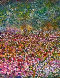 Floral Impressions, Paintings, Fine Art,Impressionism, Botanical,Floral,Landscape, Canvas,Oil, By Matthew Evans