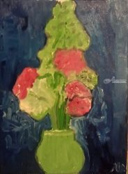 Flowers, Paintings, Impressionism, Still Life, Oil, By MD Meiser