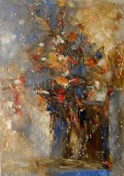 Flowers, Paintings, Abstract, Floral, Canvas, By Kestutis Jauniskis