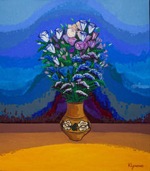 Flowers for the only one, Paintings, Expressionism, Botanical, Canvas,Oil, By Ivan Klymenko