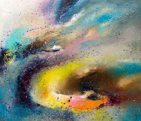 FLYING, Paintings, Abstract, Celestial / Space,Fantasy,Moving Images, Canvas,Oil, By Liubov Kuptsova