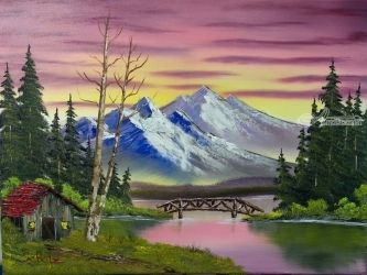 Footbridge, Photography, Fine Art, Landscape, Oil, By Justin Scholz