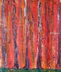 Forest, Paintings, Abstract, Landscape, Oil, By Bernard Victor